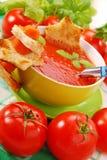 Суп томата cream с croutons Стоковые Фотографии RF
