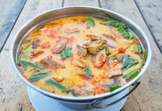 Суп Тома Yum, пряная тайская еда стоковое фото rf