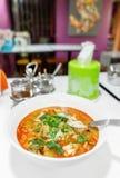 Суп Тома Yum с морепродуктами стоковые фотографии rf