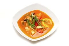 Суп Том Ям Kai Thais стоковое изображение rf