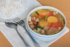 Суп тофу Стоковая Фотография