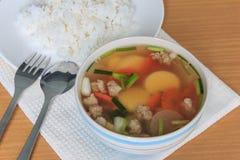 Суп тофу Стоковые Фото
