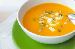 суп тыквы вкусный Стоковая Фотография