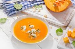 Суп тыквы и моркови стоковые фото