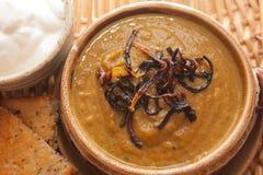 Суп тыквы карри от выше Стоковая Фотография RF