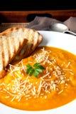 суп тыквы пармезана Стоковая Фотография
