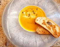 Суп тыквы ремесленника Стоковое Изображение