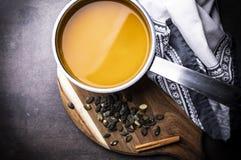 Суп тыквы, сметанообразный суп тыквы, питательная горячая еда стоковая фотография