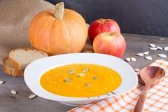 Суп тыквы с семенами тыквы Стоковое фото RF