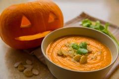Суп тыквы с croutons Стоковое фото RF