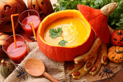 суп тыквы Стоковое Фото