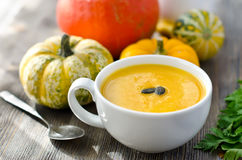 Суп тыквы Стоковое Изображение RF