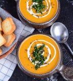 Суп тыквы Стоковые Фотографии RF