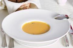 Суп тыквы cream с семенем Стоковое Изображение