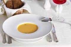 Суп тыквы cream с семенем Стоковое Фото
