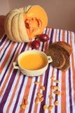 Суп тыквы cream Стоковое Изображение