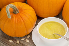 Суп тыквы cream Стоковое Изображение RF