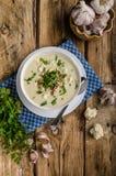 Суп цветной капусты с голубым сыром Стоковое Изображение RF