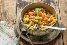 Суп цыпленка и макарон Стоковая Фотография RF