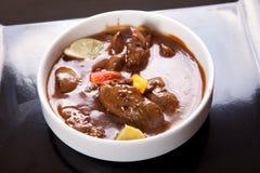 Суп цыпленоков печени стоковое фото rf