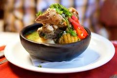 суп чилийки cazuela Стоковое Фото
