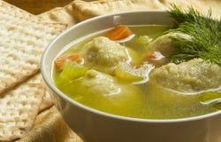 Суп шарика Matzoh Стоковая Фотография RF