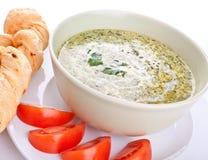 Суп шпината cream Стоковые Изображения