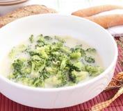 Суп brokkoli Стоковое Изображение