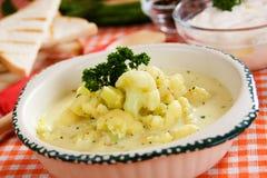суп cauliflower сметанообразный Стоковая Фотография RF