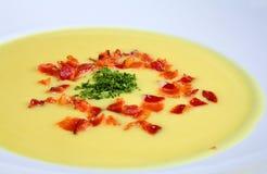 суп cauliflower сметанообразный Стоковое Фото