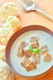 суп cauliflower стоковая фотография