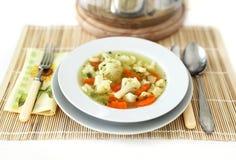 суп cauliflower Стоковые Изображения RF