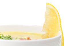 Суп chowred с беконом жаркого Стоковые Фото