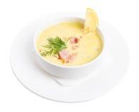 Суп chowred с беконом жаркого Стоковые Изображения