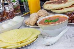 Суп Harira с помадками Стоковое Изображение