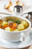 суп meatball Стоковое Фото