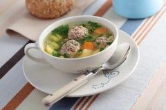 Суп Meatball Стоковая Фотография