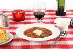 суп minestrone говядины Стоковое фото RF