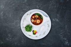 Суп Miso с креветками Японская еда стоковое изображение rf