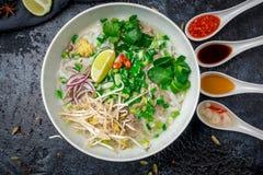 Суп Pho Bo стоковое изображение