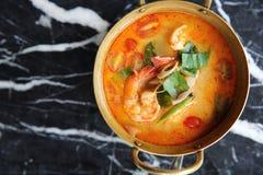 Суп Shimp Tom yum, тайская еда стоковая фотография rf