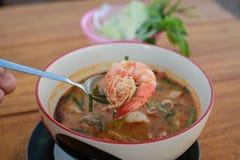 Суп Tom Yum стоковые фотографии rf