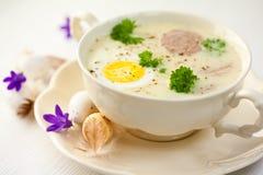 суп y пасхи bia barszcz польский стоковая фотография