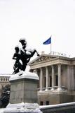 Суровая зима в EU Стоковая Фотография RF