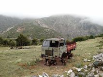 Суровая сельская сцена, Албания стоковые фотографии rf