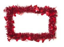 сусаль красного цвета сердец рамки граници Стоковые Фотографии RF