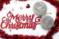 сусаль рамки рождества предпосылки веселая Стоковое Изображение RF