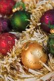 сусаль рождества baubles стоковое фото rf
