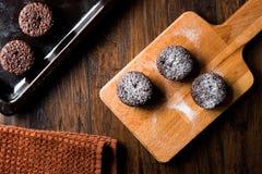 Суфле шоколада с напудренным сахаром Стоковое фото RF