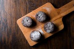 Суфле шоколада с напудренным сахаром Стоковое Изображение